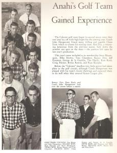 AHS 1964 Golf Team