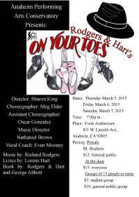 On your toes flyer