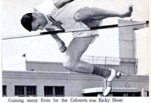 sloan doing high jump